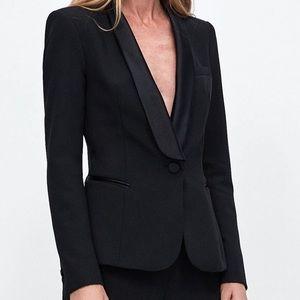 Black Zara tuxedo blazer xs new with tags